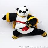 厂家定做高品质功夫熊猫公仔毛绒玩具定制