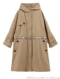 常熟天虹服装进货要点路易莎美女士休闲风衣外套