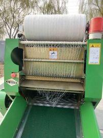 玉米秸秆打捆包膜机,带气泵的青贮打包机