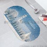 PVC浴室防滑垫 欧式印花多种花型质量稳定交期快