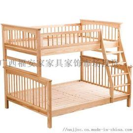 童制可拆分层床 凭祥北欧简木家具 百色双层高低床