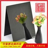 304黑色真空電鍍酒店裝飾鏡面不鏽鋼板材