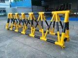 拒马护栏 学校幼儿园带滑轮防撞挡车三角架子护栏