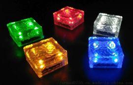 太阳能方形透明地砖灯