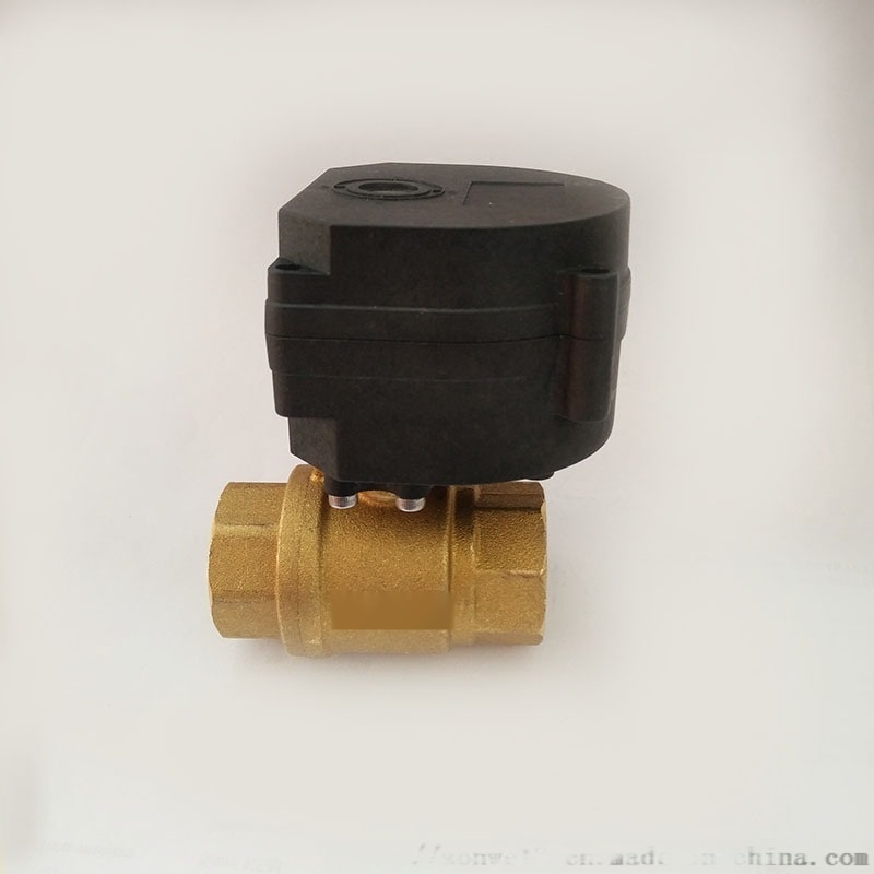 廠家直銷DN20 微型電動執行器 6分黃銅球閥