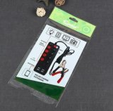 厂家定制透明冲孔可挂袋塑料纸卡头袋 电器插板包装袋