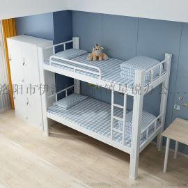 郑州铁板双层床公寓床学生公寓床上下床铁质床厂家