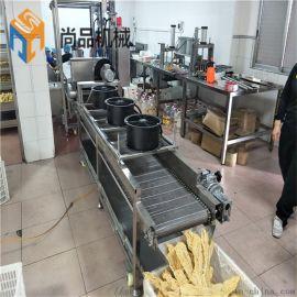 加工定制腐竹油炸机 自动控温豆腐皮油炸机流水线
