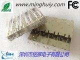 SFP连接器-1x4压接式带导光柱