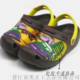 专业生产 PVC儿童鞋面 PVC一字拖鞋面 PVC鞋面