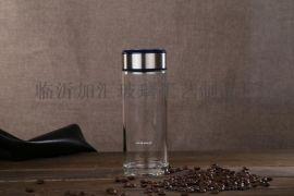 菏泽加汇双层玻璃杯礼品杯印字广告促销杯商务礼品水晶口杯玻璃杯厂家
