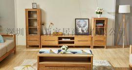 纯实木茶几沙发边几角几白橡木置物架创意小户型客厅家具