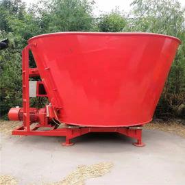 立式TMR饲料搅拌机,养牛基地秸秆粉碎拌料机