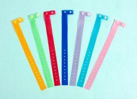 手环 ,手腕识别带, 一次性手圈(钮扣式-果冻色), Disposable Wristband