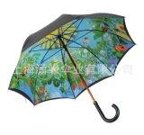 定制熱轉印直杆晴雨傘數碼印長柄廣告傘logo絲印