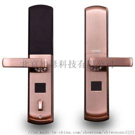 滑盖指纹锁 电子密码锁家用指纹锁