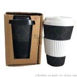 可重複使用環保食品級旅行竹纖維咖啡杯