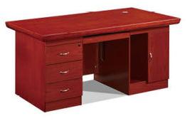 1619款1.6米油漆辦公桌光面 胡桃木皮環保家具