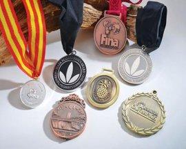 体育奖牌 金银铜奖章 足球比赛奖牌