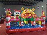广场大型充气滑梯|卡通造型充气城堡|儿童玩耍充气蹦床