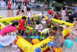 彩色儿童充气沙滩池,四川充气摸鱼池气垫