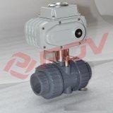 UPVC电动球阀开关型AC220V 110规格