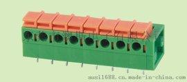 免螺丝接线端子kf142r-5.08-2p弹簧式铜环保款式类型系列电子元件