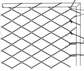 雅利嘉7x7合股不锈钢丝绳网