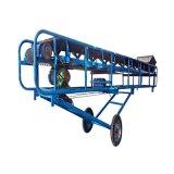 V型託輥散糧輸送機格擋式顆粒料輸送機食品帶輸送機報價