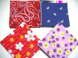 全棉印花方巾