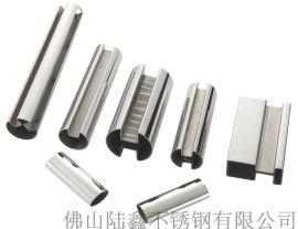 凹槽不锈钢矩形管;不锈钢凹槽矩形管