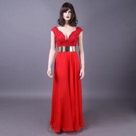 2014年Julie Vino婚纱爆款金腰带晚礼服 以色列设计钉珠礼服厂家