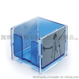 亚克力便签盒透明便签纸盒压克力收纳盒相框