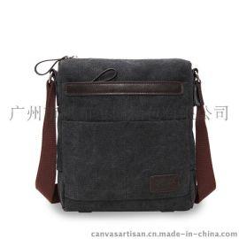 帆布包工厂休闲时尚商务公文包单肩包斜挎包帆布包 T11-4