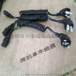 弹簧连接线 ,带插头电源螺旋伸缩弹弓电线