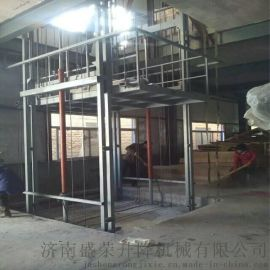济南盛荣载货货梯  2吨导轨式升降货梯