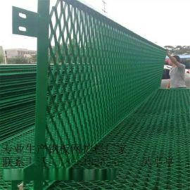 高速公路护栏网    防眩网       菱形钢板网护栏