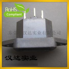 AC电源插座 品字型电源插座 DB-14-1F 带耳朵AC插座 DC器具插座
