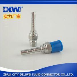 10311英制锥管外螺纹平面不锈钢高压插管式扣压管直接