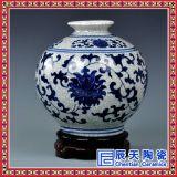 景德鎮陶瓷器仿古青花瓷花瓶花插中式擺件簡約時尚家居客廳工藝品