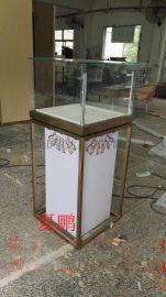 不锈钢立式珠宝首饰柜台展示柜厂家定做