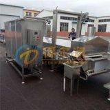 K锅巴自动生产线 面食专用油炸设备 定制油炸设备