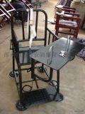仿不鏽鋼圓管型審訊椅 鋼管審訊桌椅