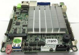 研盛芯控 J1900四核主板 ITX嵌入式主板 12釐米主板