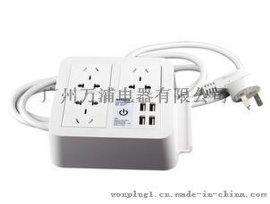 大白桌面数码排插 家用有线插排厂家批发