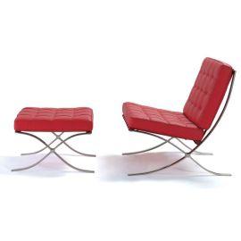 巴赛罗娜椅 设计师沙发 时尚单人休闲椅 真皮别墅沙发批发