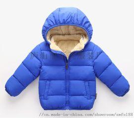 新款儿童秋冬季羽绒服男女童装棉服保暖外套批发货源