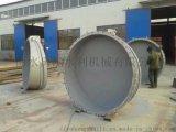 玻璃钢拍门生产厂家 PVC管安装复合材料拍门 法兰连接拍门价格