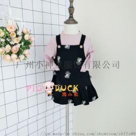 **果春季新款品牌折扣童装尾单货源 纯棉连衣裙子