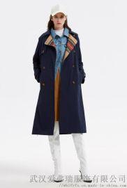 女装拿货码数拉夏贝尔20年春装新款女式风衣外套